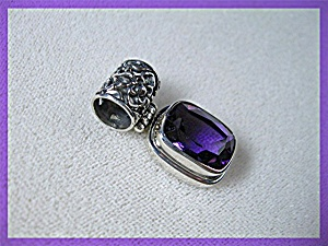 Sterling Silver 10 CT Amethyst Pendant (Image1)
