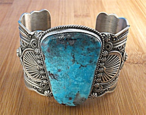 Native Americn  Darrel Cadman  Sterling Silver Turquois (Image1)
