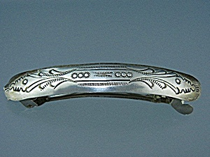 Native American Sterling Silver Hair Barette