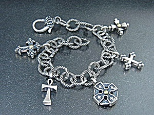 Ann King Sterling Silver Cross's Of The World  (Image1)