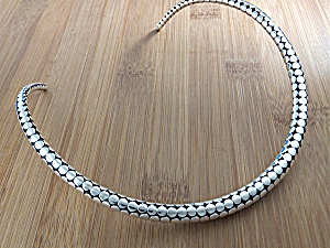 Necklace Sterling Silver John Hardy Dot Style Collar Ba (Image1)