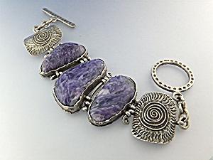 David Troutman  Sterling Silver Charoite Bracelet (Image1)