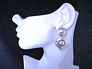 Brenda Schoenfeld Sterling Silver Clip Earrings Mexico (Image1)