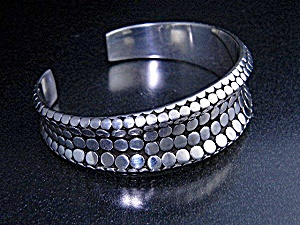 Bali Sterling Silver Dots Cuff Bacelet