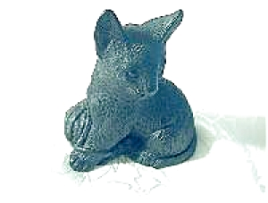 Cat Ornament English Made From Coal (Image1)