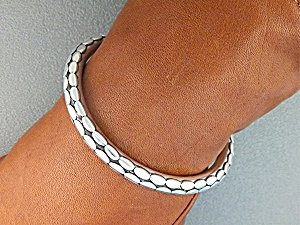 Bracelet Sterling Silver Oval Dot John Hardy Look Bali (Image1)