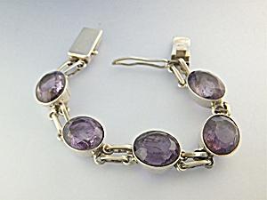 Bracelet Sterling Silver Amethyst IDZI (Image1)