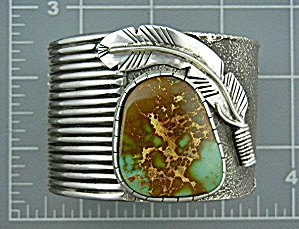 Navajo Sterling Silver Pilot Mountain Turquoise Cuff