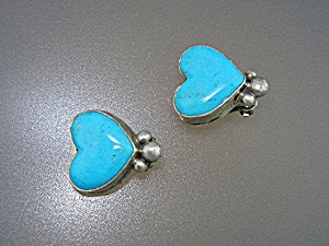 David Troutman Sterling Silver Kingman Turquoise Earrin