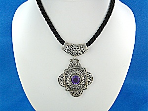 Pendant Sterling Silver Amethyst Bali (Image1)