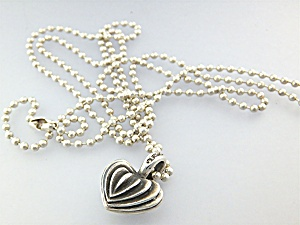 Necklace Lagos Caviar Heart & Chain