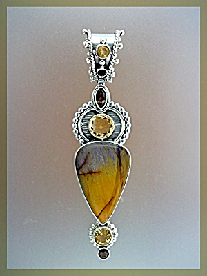 Pendant Citrine Mookeite Amethyst Sterling Silver (Image1)