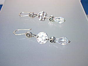 Earrings SILPADA Crystal Teardrop Sterling Silver Pierc (Image1)