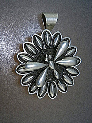 Navajo Sterling Silver Dragonfly Locket D. Cadman