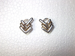 Earrings Sterling Silver Pierced French Back Signed