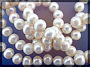 Necklace Genuine Freshwater Pearls 32 Inch 10mm