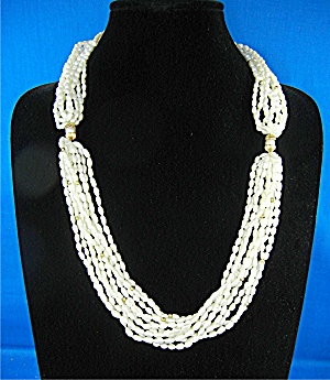 14k Gold Freshwater Pearls 10 Strands Necklace