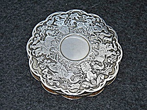 Compact Silver Knights on Horseback Mirror FFAICE (Image1)