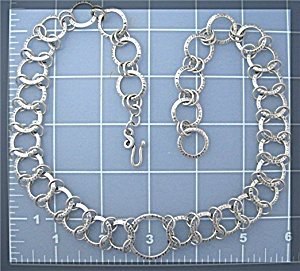 Sterling Silver Loops Necklace Hook Clasp (Image1)