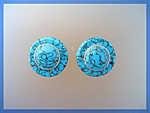 Silver Turquoise Clip Earrings (Image1)