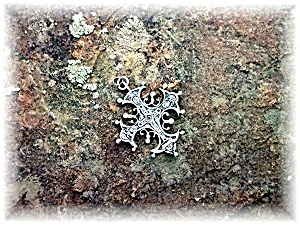 Pendant PARENTI Sterling Silver Ornate Cross (Image1)