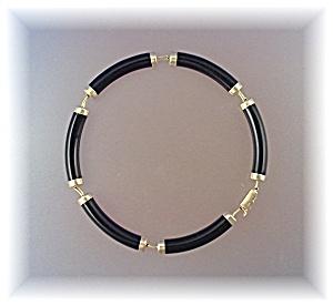 Bracelet 14K Gold Black Onyx Oriental Discs (Image1)