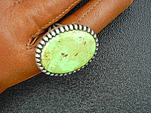 Navajo Gaspeite Sterling Silver Ring A.j. Platero