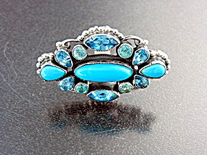 Leo Feeney Sterling Silver Turquoise Blue Topaz Ring