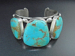 David Troutman Kingman Turquoise Sterling Silver Cuff