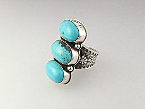 David Troutman & Gundi Sterling Silver Turquoise Ring (Image1)