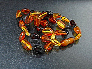 Amber Bead Necklace Amber Clasp