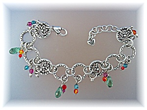 Bracelet Silver And Crystals Brighton Charms