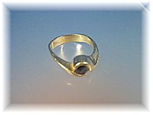Ring 14K Gold Bezel Set 1/2ct  Sapphire (Image1)