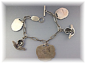 Bracelet Sterling Silver FOREE 5 Charms (Image1)