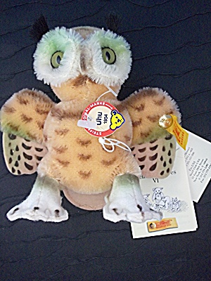 STEIFF Mohair Uhu  Owl 1954 With Tags (Image1)