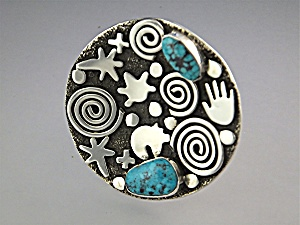 Ring Sterling Silver Turquoise ALEZ SANCHEZ USA (Image1)