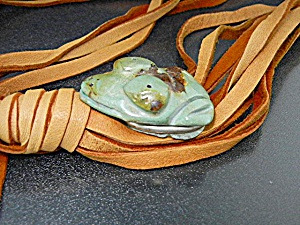 Native American Carved Turquoise Frog Stacey Turpen Lea (Image1)