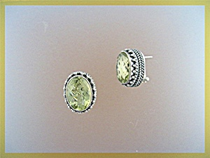 Sterling Silver Citrine French Back Pierced Earrings (Image1)