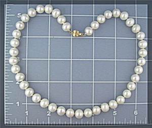 Necklace 14K Gold Freshwater 9mm Pearl  (Image1)