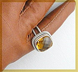 Sterling Silver Golden Citrine Ring (Image1)
