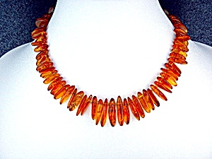 Amber Graduated Honey Color Poland Necklace