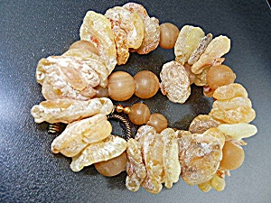 Citrine Crystal Copper Glass Beads Necklace (Image1)