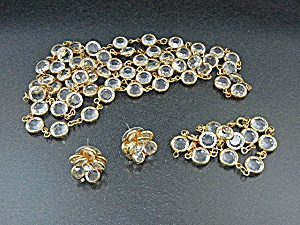 Swarovski Crystal Necklace Bracelet & Earrings (Image1)