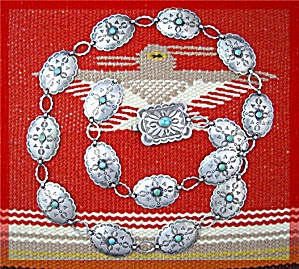 Sterling Silver Turquoise 30 inch Belt/Necklace (Image1)