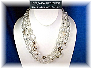 Necklace Rock Crystals Sterling Silver Pearls SILPADA (Image1)