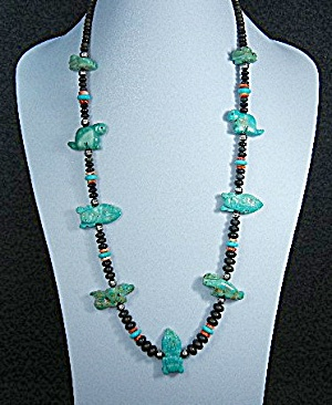 Native American Turquoise Carved Fetish Stacey Turpen  (Image1)