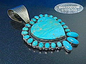 Dan Dodson Kingman Turquoise Sterling Silver Pendant (Image1)