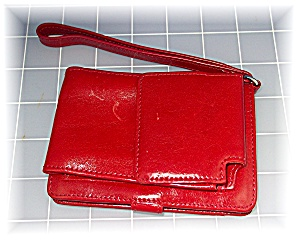 Hobo International Red Leather Credit Card Cell Phone H