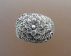Sterling Silver Dome Flower Ring