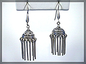 Sterling Silver Chandelier Dangle Pierced Earrings (Image1)